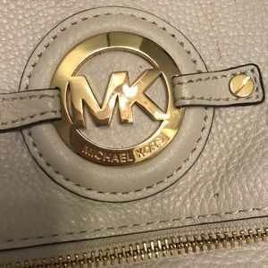 Michael Kors cream leather crossbody